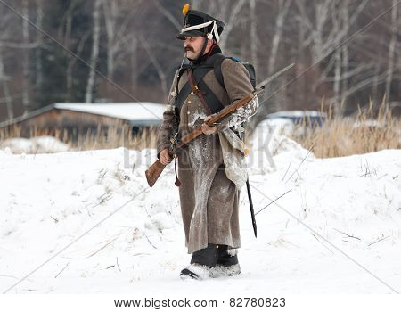 Russian Soldier Walking