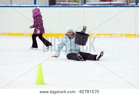 Fall Down On The Rink
