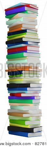 Education And Wisdom. Tall Heap Of Hardcovered Books
