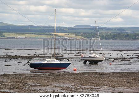 Scotland an June 06, 2012: Low tide