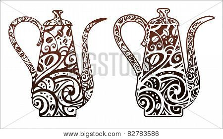 Coffee Pot With Floral Ornament