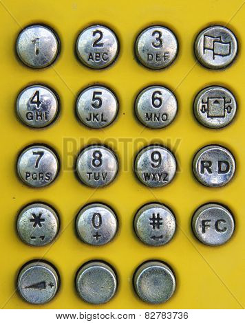 Old Design Of Phone Number Pad