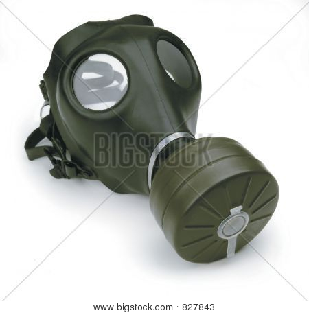 gas mask on white