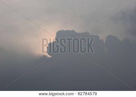 Cloudscape With Sun