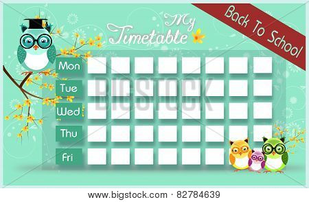 Timetable With Owls