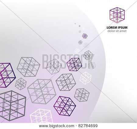 vector abstract business cube concept