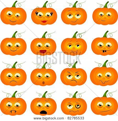 Pumpkins With Faces