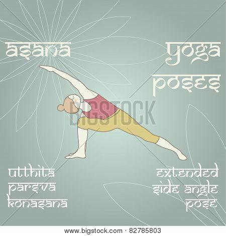Utthita Parsva Konasana. Extended Side Angle Pose.