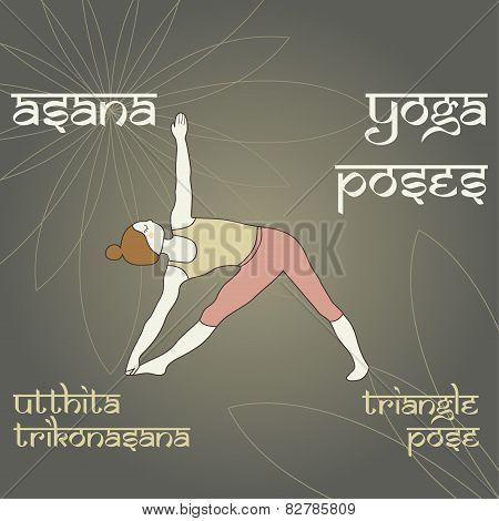 Utthita Trikonasana. Triangle Pose.