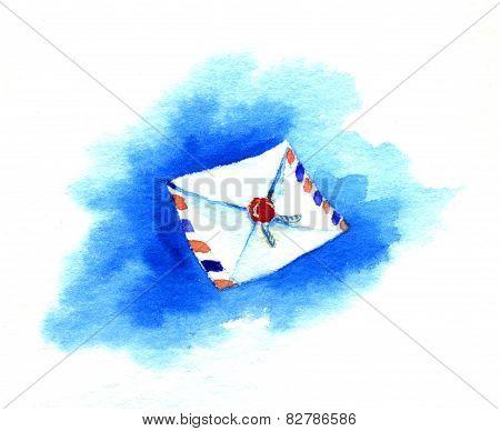 Envelope Against The Blue Sky