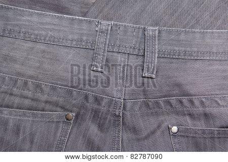 Back Side Of Grey Jeans - Close Up