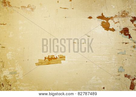 Textured Background With Cracked Painted Surface