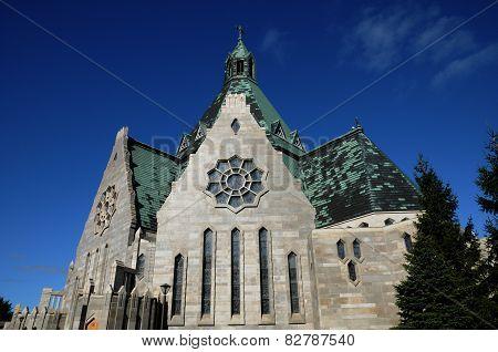 Quebec, The Basilica Notre Dame Du Cap In Cap De La Madeleine