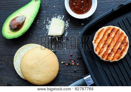 Ingredients For Cooking Fish Burger At Home