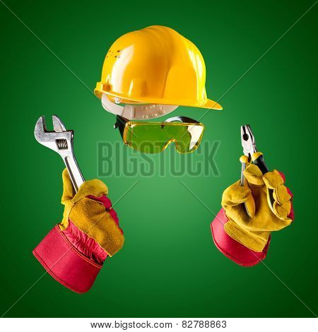 Invisible Builder -- Wrench And Pliers