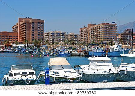 Fuengirola Harbour, Spain.