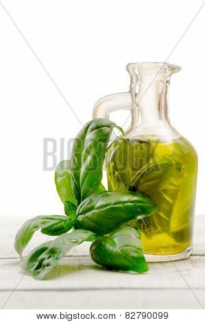 Olive Oil Flavored With Basil