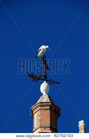 Stork on a weathervane.