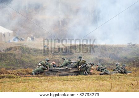 German Soldiers Battle