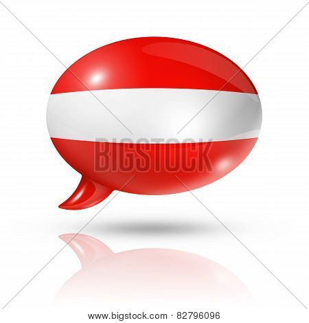Austrian Flag Speech Bubble