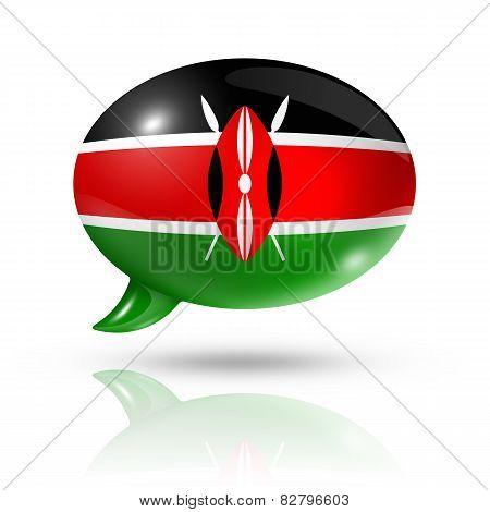 Kenyan Flag Speech Bubble