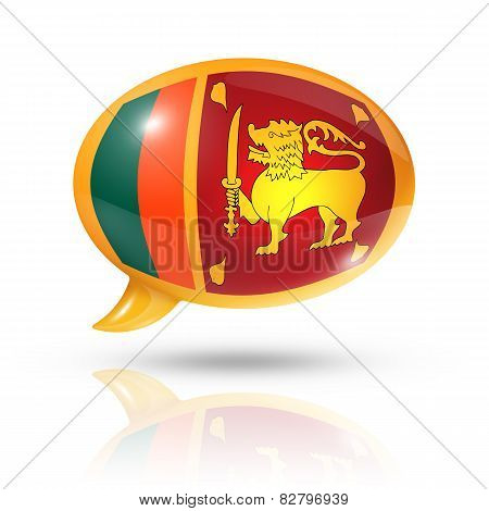 Sri Lanka Flag Speech Bubble