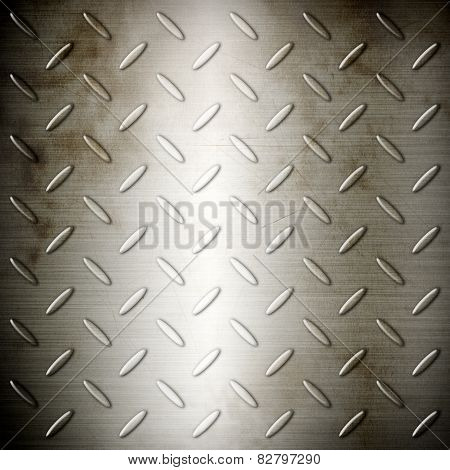 Old Steel Diamond Brushed Plate Background Texture
