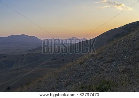 Dawn In The Crimean Mountains.