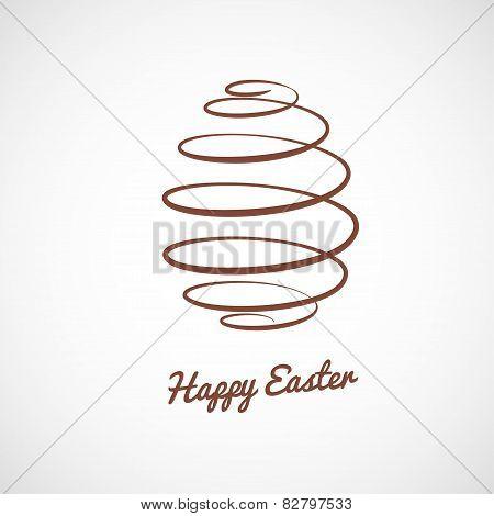 spiral Easter egg