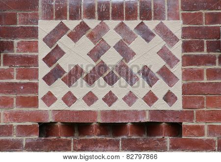 Red Brick Texture With Ornament