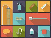picture of personal hygiene  - Personal Hygiene Flat Design Icons Vector Illustration - JPG