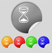 pic of sand timer  - Hourglass sign icon - JPG