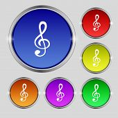 image of music symbol  - Music note sign icon - JPG