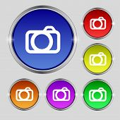 picture of  photo  - Photo camera sign icon - JPG