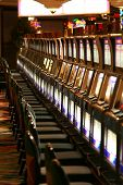 stock photo of slot-machine  - casino slot machine in las vegas - JPG