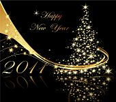 stock photo of new years  - Happy New Year background with stars and decoration - JPG