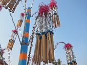 image of lent  - Joss Sticks in The Bouquet of Boonkrathu Festivel End of The Buddhist Lent Day - JPG