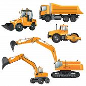 stock photo of excavator  - Construction Machines - JPG