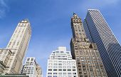 foto of army  - Skyscrapers at Grand Army Plaza near Central Park in New York with deep blue sky - JPG