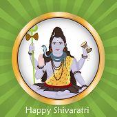 stock photo of shiva  - illustration of Lord shiva in green background - JPG