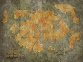 picture of treasure map  - treasure map background - JPG