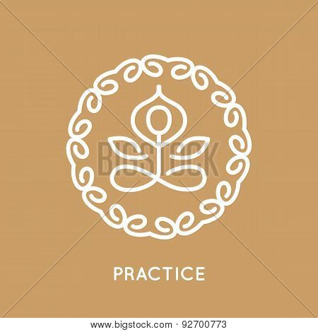 Yoga logo template.
