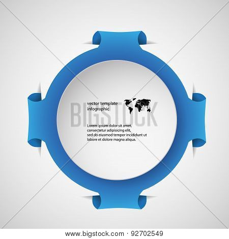 Template Infographic With Blue Ring