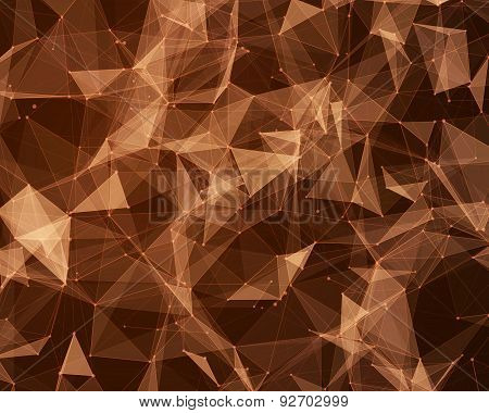 Digital Background With Geometric Particles