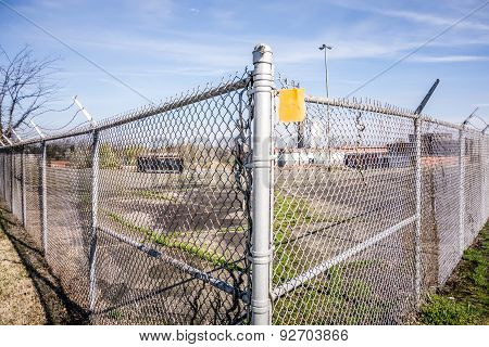 Chainlink Fence Securing Perimeter Of Property
