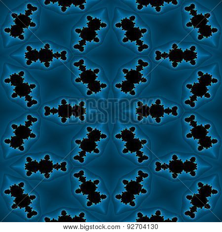 Abstract Blue Fractal Texture Made Seamless
