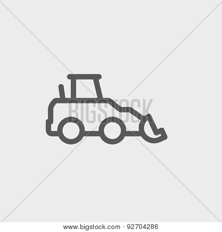 Car dumper icon thin line for web and mobile, modern minimalistic flat design. Vector dark grey icon on light grey background.