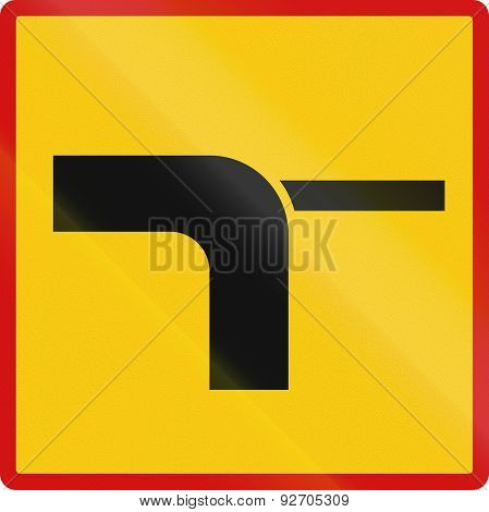 Priority Route At Junction In Iceland