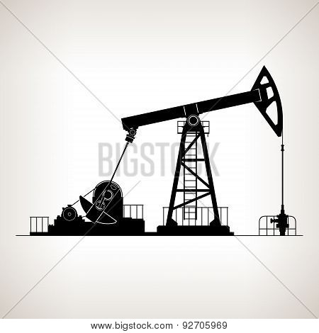 Silhouette Pumpjack or Oil Pump