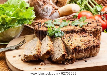 Traditional Delicious Meat Pate With Vegetables